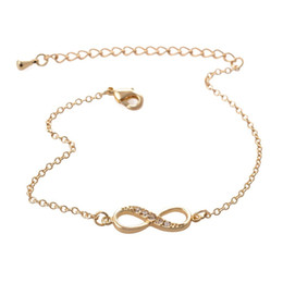 Wholesale Lucky Cross Metal - Fashion Lovers Bangles Jewelry Personality Simple Lucky Number 8 Characters Metal Cross Endless Opening Bracelets NY-017