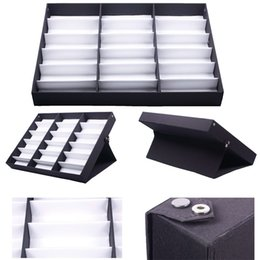 Wholesale Eyewear Tray - 18 PCS Eyewear Sunglasses Jewelry Watches Display Storage Case Tray HITM #56337