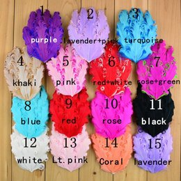 Wholesale Girls Nagorie Feather Headbands - Mix 10*14CM European popular Curly feathers hair accessories, mixed 15 colors Chic Nagorie Pads curled feathers for headbands