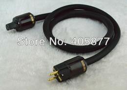 Wholesale Eur Power Plug - Hi-End OFC Copper EUR Power cable with P079E+C079 schuko power plug cable 1.5M
