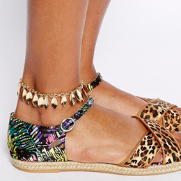 Wholesale Cheap Wholesale Anklets - Newest Gold Anklets for women Shining Thin leaf tassels Anklets Cheap Summer anklets jewelry for women and men C012