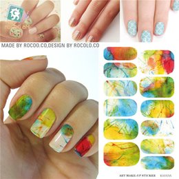 Wholesale Water Decal Nail Paint - Wholesale- Minx Nail Water nail stickers Tips transfer foil Harajuku Watermark painting Manicure Sticker Decals Patch Accessories