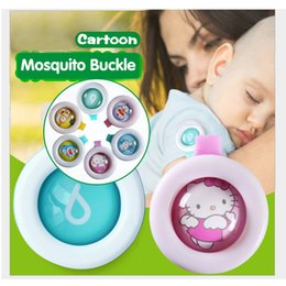Wholesale Cute Buttons Wholesale - Anti-mosquito Button Cute Cartoon Mosquito Repellent Clip Adults Kids Summer Non-toxic Mosquito Repellent Buckle Pest Control via