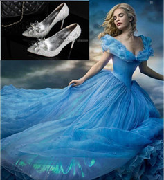 Wholesale High Sandals Thin - 2015 Cinderella High Heels Crystal Wedding Shoes Celebrity Thin Heel Rhinestone Platform Butterfly Cinderella Crystal Shoes