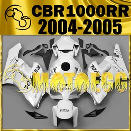 Wholesale Cbr Repsol Body Kit - Five Gifts Motoegg Fairings Bestselling Injection Mold Kits For Honda CBR1000RR 2004 2005 CBR 1000RR 04 05 Body Kit Repsol White H14M31