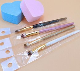 Wholesale Eyebrow Angle Brush - 50PCs eyeshadow brush Super Soft Professional Pincel con esponji Makeup Eyebrow Brush Eyeshadow Blending Angled makeup brushes Comestic Tool