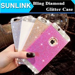 Wholesale Diy Rhinestone For Cell Phones - I6 Luxury Shinny Crystal Bling Diamond Glitter Rhinestone Hard Cell Phone Back Case DIY Cover for iPhone 6 6S 6plus 5 5s
