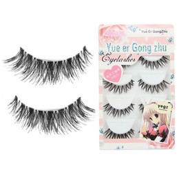 Wholesale hot girls japan - Wholesale-Stylish Japan style girls 5 Pair Lot Crisscross Charming False Eyelashes Lashes Voluminous HOT eye lashes for women