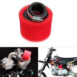 Wholesale Pit Bike Air Filter - 38mm ATV PIT DIRT BIKE 45 Degree ANGLED FOAM Air Filter Pod Cleaner 110cc 125cc RED CRF50 XR50 CRF