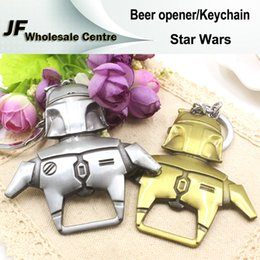 Wholesale Cheap Man Bottles - Star Wars Beer Opener Keychhain Bottle Opener Movie Accessories Cheap Gadgets Car Key Ring Metal Hard Universal Key Chain Christmas Gift
