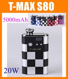 Wholesale Electronic Cigarettes Vamo - T-max S80 vape mods kit 20w variable voltage Box Mod T MAX S80 VV VW Ecig 5000 mAh 3.0V-6.0V Electronic cigarette VS ELVT SMY VAMO v5 TZ258
