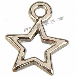 Wholesale Small Plate For Necklace - jewelry findings and components tibetan silver stars charms diy bracelet necklaces pendants small open metal for jewelry making 12mm 1000pcs