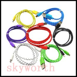 Wholesale Data Sync Cable 3m - Micro USB V8 V9 USB 3.0 Braided Cable 1M 3ft 2M 6ft 3M 10ft Data Sync Cord for Samsung Galaxy S6 Note5