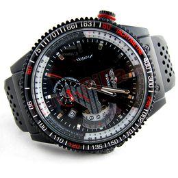 Wholesale Disc Watch - Fashion Men Brand Winner skeleton watch black silicone calendar second disc mechanical watch relojes de hombre