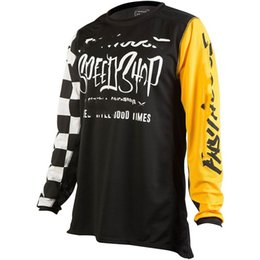 Wholesale 5xl Bicycle Jersey - 2018 Men Off-road motocross Cycling Jersey Super Breathable Summer Bicycle Short Clothing Ropa Sportwear Bike Clothes Outdoor&Sport