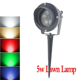 Wholesale Ra Pin - Wholesale-Led Lawn Light 12V IP65 Led Landscape Outdoor Light 5W Contact Pin In Earth Warm whie,white,Red,Blue,Green RA>68 Free shipping