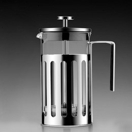 Wholesale Tea Makers Wholesale - Household Glass Coffee Pot Heat Resistant Stainless Steel Handle Tea Infuser Maker Filter Pressure Type Kitchen Tool For Office 39gc B