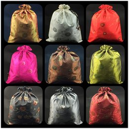 Wholesale Family Cases - Fashion Sequin Drawstring Shoe Bags for Travel Storage Protective Case Dust Bags High Quality Satin Fabric Bra Underwear Sock Pouch