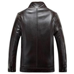Wholesale Middle Age Mens Leather Jackets - Fall-Doudoune Fourrure Homme 2015 Winter Men's Middle Age Fashion Shearling Coats Men Jacket Leather Fur Overcoat Mens Sheepskin Coat