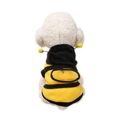 Wholesale Christmas Hoodie For Dog - Pet Costume Dog Hoodie Bee Puppy Coat for Dog Christmas Halloween Clothes Festival Fancy Dress up 2 Sizes