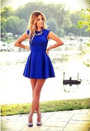 Wholesale Plus Size Womens Summer Wear - new 2015 spring summer womens dress casual vestido plus size,sexy sleeveless blue mini dress evening party wear vestidos