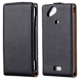 Wholesale Ericsson Xperia Lt18i - Classic Business Style Luxury Real Genuine Leather Mobile Phone Case For Sony Ericsson Xperia Arc S X12 LT15i LT18i Back Cover