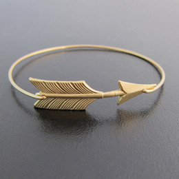 Wholesale United Arrows - Arrow Stack Gold and Sliver Bangle Bracelet 2015 Europe and the United States Hot Sale jewelry YPQ0072