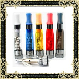 Wholesale E Cig Ce4 Wicks - Hot selling 1.6ml ce4 Clearomizer ego cigarette Atomizer CE4 with Long wick e cig tanks ego E-cigarette 8 colors available evod by DHL Free