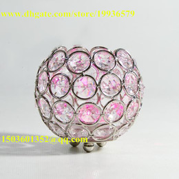 Wholesale Wholesale Small Clear Plates - Dining table centerpiece decoration using bowl shape clear glass crystal beaded votive candleholders beautiful accessories for table decorat