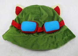 Wholesale Hat Lol - 10pcs lot League of Legends cosplay cap Hat Teemo hat Plush+ Cotton LOL plush toys Hats