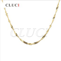 Wholesale Gold Plated 18 Inch Chains - Womens 3pcs 16 inch and 18 inch wave shape Gold Plated chain Free Shipment