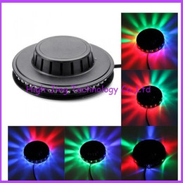 Wholesale Ufo Ceiling Light - Wholesale-LED tornado lamp 48 LED UFO Stage Light RGB LED DJ Disco Party Stage Lighting Ceiling Wall Lights Black High Brightness