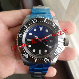 Wholesale Deep Bezel - Luxury Watch SEA-DWELLER DEEP Ceramic Bezel 44mm Stanless Steel Clasp 116660 Automatic Wristwatch High Quality Business Casual mens Watches