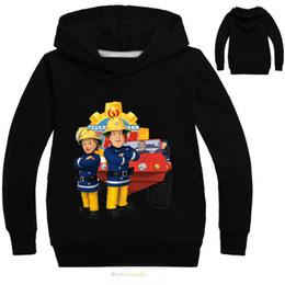bombeiro camiseta Desconto 2017 meninos miúdos outono encabeça a camisola Fireman Sam camisetas hoodies manga longa roupas sam le meninas pompier roupas H02