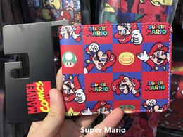 Wholesale World Games - Super Mario World Wallet Cute Cartoon Comics Purse Student Short Game Wallet Credit Card Holder Anime Purse