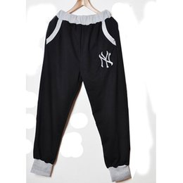 Wholesale Harem Dance - Wholesale-Fashion New 2015 Sport Men Women Harem Pants Casual Sport Hip Hop Pants Men  Brand Baggy Dance Pants Sweatpants For Men