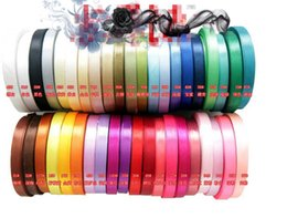 """Wholesale roll drops - 15% off new arrival 25 yards roll Wedding ribbon 3 8""""(9mm) single face satin ribbon Gift Packaging belt accessories 250yards drop shipping"""