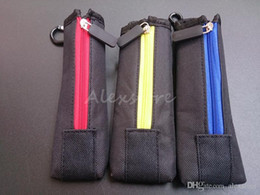 Wholesale Cloth Wholesale Pouch - Carry pouch bag ECig Carring pouch Colorful Cloth Pocket Box Case with Hook Zipper Necklace Lanyard Holder for ego evod x6 Mod DHL