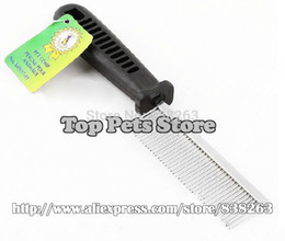 Wholesale Pet Lines - Wholesale-Pet grooming combs Metal pet single-line comb Dogs cats straight comb Clearer necessary tools free shipping