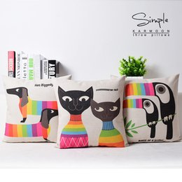Wholesale Dachshund Pillow - Sausage dog Hot diggedy dog Cushion Cover Candy Color Dachshund Sofa Pillow Case Cat Cosplay pillow cover decoration Free Shipping