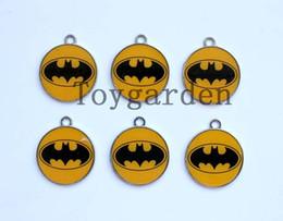 Wholesale Batman Charms - 50pcs Batman Logo Design Charm Metal Pendant jewelry Make Gift
