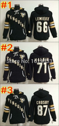 Wholesale Nylon 66 - Women's Hoody,Pittsburgh Penguins #87 Sidney Crosby #71 Evgeni Malkin #66 Mario Lemieux Stitched Hoodies,Best Quality Size:S-2XL