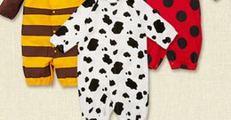 Wholesale Kids Piece Character Costumes - 2015 Fashion Hot Sale Children Rompers Pure Cotton Autumn New Style Kids One-piece Clothing Animal Character Hooded Baby Costumes CR442