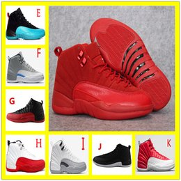 Wholesale Play Canvas - retro 12 master french gamma blue play off flu game men women new basketball shoes sneakers black white size 13 Michael Sports
