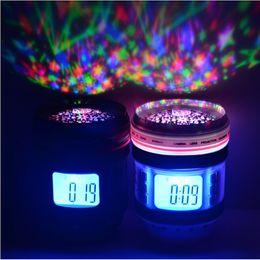 articles de jeux d'eau Promotion NOUVEAU Camera Lens Digital LED Réveil avec Rétro-Éclairage Multi-fonction Musique Starry Projection Calendrier LED Star Sky Projecteur