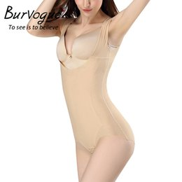 Wholesale Lace Underbust - Burvogue Women Shapewear Postpartum Slimming Underwear Seamless Bodysuits Underbust Tummy Control corset