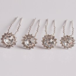 Wholesale Clips For Plating - New bridal hair pins clips accessories for wedding 2016 hot bridal Bridesmaid rhinestone hair piece hairpin comb clip accessory