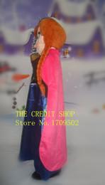 Wholesale Kigurumi Mascot Costume - Haute qualité princesse Anna adulte costume de mascot en peluche pour festive et réceptions kigurumi disfraces fantaisie robe anime cospla