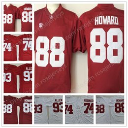 Wholesale Black J - Mens Alabama Crimson Tide #74 Cam Robinson #88 O. J. Howard #93 Jonathan Allen Red White Limited Stitched NCAA College Football Jersey S-3XL