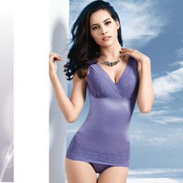 Wholesale Draw Vest - Wholesale-Freeshipping Thin body shaper top seamless corset vest abdomen drawing female underwear slimming beauty care clothing